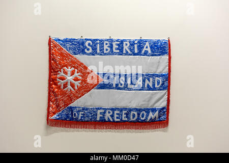 Cracow, Poland - May 8, 2018: Exibition Motherland in Art at Mocak in Krakow. David Muratov - Siberia Island of Freedom Credit: Wieslaw Jarek/Alamy Live News - Stock Photo