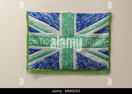 Cracow, Poland - May 8, 2018: Exibition Motherland in Art at Mocak in Krakow. David Muratov - United Kingdom of Siberia Credit: Wieslaw Jarek/Alamy Live News - Stock Photo