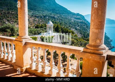 Son Marroig, view from balcony, mallorca - Stock Photo