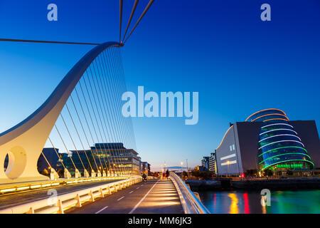 Dublin Ireland Samuel Beckett Bridge travel traveling architecture - Stock Photo