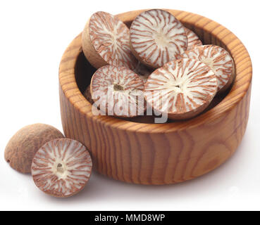 Betel nut over white background - Stock Photo