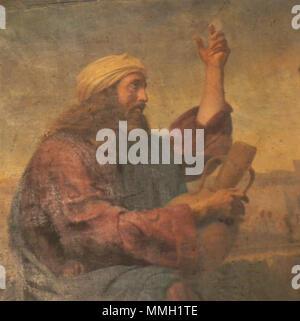 Christ et la Samaritaine by Traviès de Villers (detail) - Stock Photo