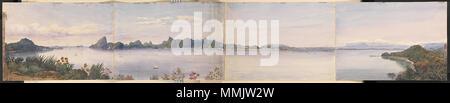 . English: Panorama of Rio de Janeiro, Brazil.  . January - February 1849. Admiral Edward Gennys Fanshawe (27 November 1814 – 21 October 1906). Edward Gennys Fanshawe, Panorama of Rio de Janeiro, Brazil - Stock Photo