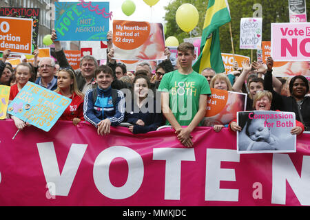12/5/2018. Love Both Rally in Support of a No Vote in Irish Abortion Referendum, Dublin, Ireland - Stock Photo