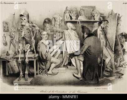 Atelier de la Caricature et du Charivari by Traviès de Villers - Stock Photo