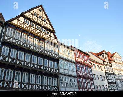 Old traditional houses in Hannover, Germany - Stock Photo