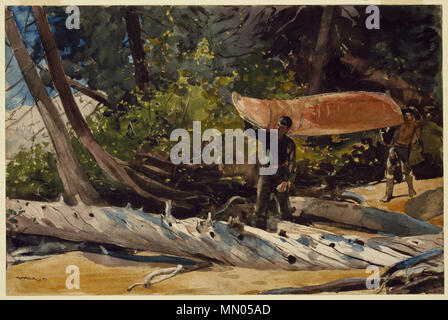 End of the Portage. circa 1897. Brooklyn Museum - End of the Portage - Winslow Homer - overall - Stock Photo