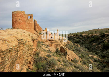 Ruins at Hovenweep National Monument, Colorado - Stock Photo