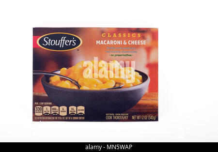 Box of Stouffer's Classics Macaroni & Cheese - Stock Photo