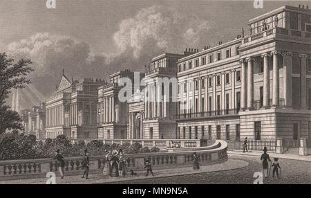 Cumberland Terrace Regent's Park. London. SHEPHERD 1828 old antique print - Stock Photo