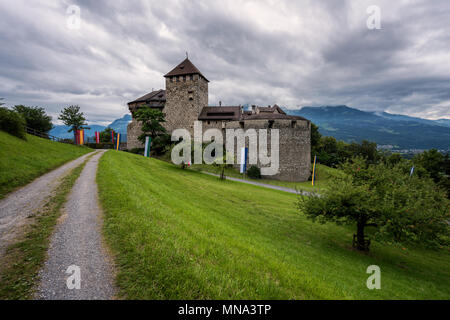 Principality of Liechtenstein - Vaduz Castle. Fürstentum Liechtenstein - Schloss Vaduz - Stock Photo