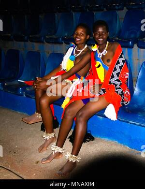 Women in traditional costumes after the Umhlanga aka Reed Dance - 01-09-2013 Lobamba, Swaziland - Stock Photo