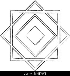 cover frame victorian style with geometric figure - Stock Photo