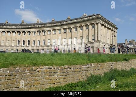 Royal Crescent, Bath, Somerset, England, UK, May 2018 - Stock Photo