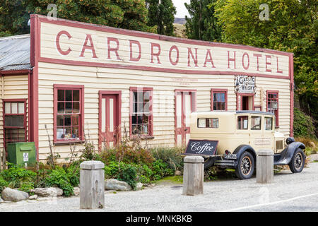 new zealand cardrona hotel in a former goldrush town Crown Range road cardrona New Zealand South Island - Stock Photo