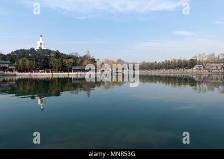 Beihai Park in Beijing China - Stock Photo
