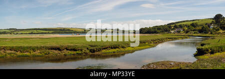 St Dogmaels, Pembrokeshire, Wales  on the estuary of the River Teifi - Stock Photo