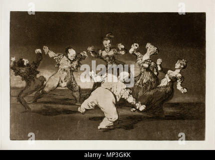 . English: This print is work No. 12 of the 'Disparates' series (1st edition, Madrid, Real Academia de Bellas Artes de San Fernando, 1864) . 3 June 2011, 11:33:07.   Francisco Goya (1746–1828)   Alternative names Francisco Goya Lucientes, Francisco de Goya y Lucientes, Francisco José Goya Lucientes  Description Spanish painter, printmaker, lithographer, engraver and etcher  Date of birth/death 30 March 1746 16 April 1828  Location of birth/death Fuendetodos Bordeaux  Work location Madrid, Zaragoza, Bordeaux  Authority control  : Q5432 VIAF:54343141 ISNI:0000 0001 2280 1608 ULAN:50011893 - Stock Photo