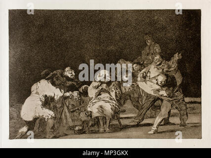 . English: This print is work No. 17 of the 'Disparates' series (1st edition, Madrid, Real Academia de Bellas Artes de San Fernando, 1864) . 3 June 2011, 11:34:54.   Francisco Goya (1746–1828)   Alternative names Francisco Goya Lucientes, Francisco de Goya y Lucientes, Francisco José Goya Lucientes  Description Spanish painter, printmaker, lithographer, engraver and etcher  Date of birth/death 30 March 1746 16 April 1828  Location of birth/death Fuendetodos Bordeaux  Work location Madrid, Zaragoza, Bordeaux  Authority control  : Q5432 VIAF:54343141 ISNI:0000 0001 2280 1608 ULAN:50011893 - Stock Photo