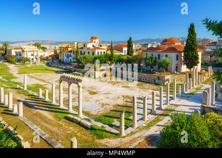 Roman Agora in Athens, Greece - Stock Photo