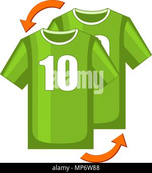 Colorful cartoon soccer player replacement icon - Stock Photo