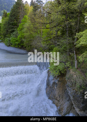 Lech Falls bear Füssen, Bavaria, Germany - Stock Photo