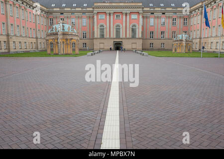 31st August 2017, Potsdam, GERMANY.  Fortunaportal, Left and right,  with in the Boundaries of Historical Market Square, © Peter SPURRIER, - Stock Photo