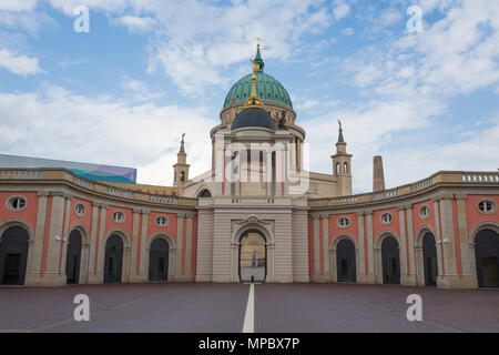 31st August 2017, Potsdam, GERMANY.  Fortunaportal Arched entrance to the Historical Market Square, © Peter SPURRIER, - Stock Photo