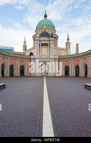 31st August 2017, Potsdam, GERMANY,  Fortunaportal Arched entrance to the Historical Market Square, 31st August 2017, © Peter SPURRIER, - Stock Photo