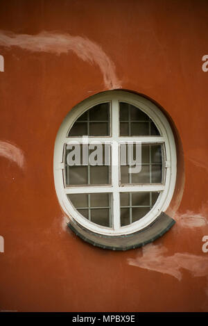 31st August 2017, Potsdam, GERMANY.  Round Windows front elevation of the  CafŽ im Filmmuseum Studio Babelsberg. © Peter SPURRIER, - Stock Photo