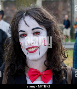 Zombie Walk in Bristol which is an annual event hed around Halloween - Stock Photo
