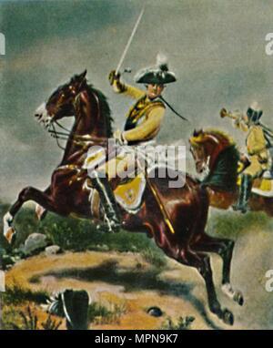 'General von Seydlitz 1721-1773. - Gemälde von Camphausen', 1934. Artist: Unknown. - Stock Photo