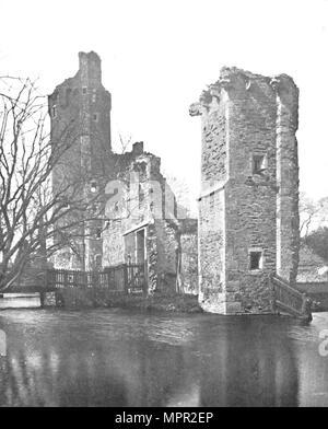 'Brickwork at Caister Castle, Norfolk', 1903. Artist: Unknown. - Stock Photo