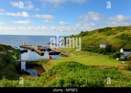 United Kingdom, Scotland, Highland, Lybster, harbour - Stock Photo