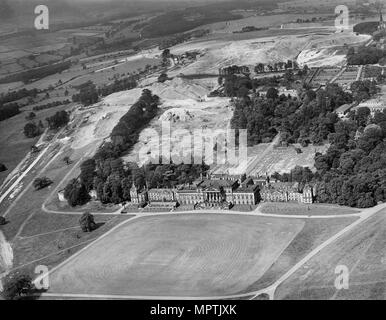 Wentworth Woodhouse, Rotherham, South Yorkshire, 1946. Artist: Aeropictorial Ltd. - Stock Photo