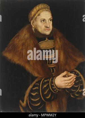 Portrait of Frederick III, Elector of Saxony (1463-1525), ca 1515. - Stock Photo