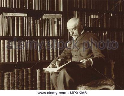 Portrait of the author Joris-Karl Huysmans (1860-1918), c. 1895. - Stock Photo