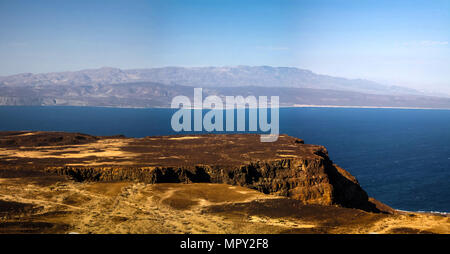 Gulf of Tadjoura and Ghoubet lake , Djibouti - Stock Photo