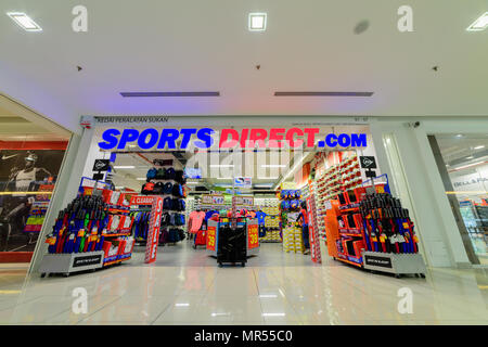 Penang, Malaysia - Nov 12, 2017 : Sports Direct shop. Sports Direct International plc is a British retailing group. Established in 1982 by Mike Ashley - Stock Photo