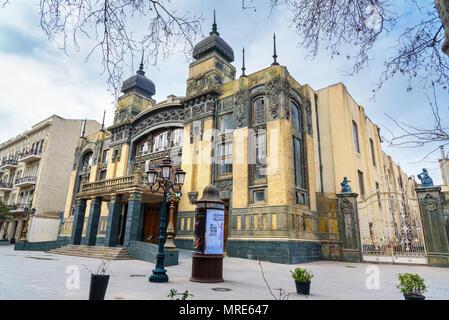 Baku, Azerbaijan - March 10, 2018: Azerbaijan State Academic Opera and Ballet Theater in Baku. It was built in 1911 - Stock Photo