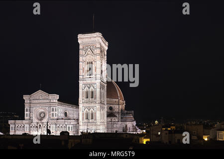 Cattedrale di Santa Maria del Fiore, Cupola del Brunelleachi, Campanile di Giotto, Florence, Tuscany, Italy, Europe, - Stock Photo