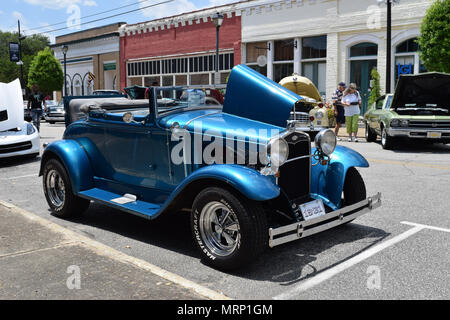 A 1931 Ford with a Rumble Seat at a Car Show. - Stock Photo