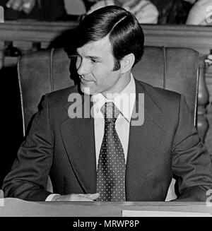 San Francisco Supervisor, Dan White, in City Hall. January 9th 1978, California - Stock Photo