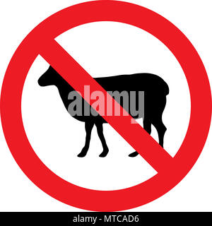 No sheeps allowed sign - Stock Photo
