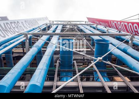 France, Paris - 5 April 2018: Centre Pompidou - Stock Photo