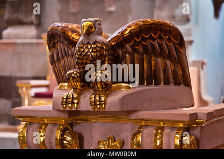 A sculpted EAGLE in the SAN RAFAEL CHURCH  - SAN MIGUEL DE ALLENDE, MEXICO - Stock Photo