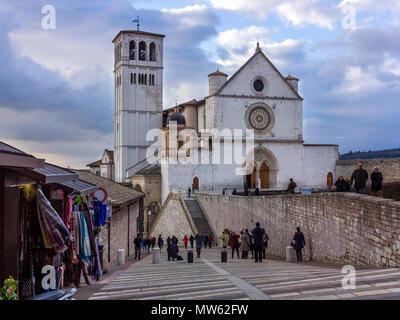 Basilica of Saint Francis of Assisi, Italy - Stock Photo