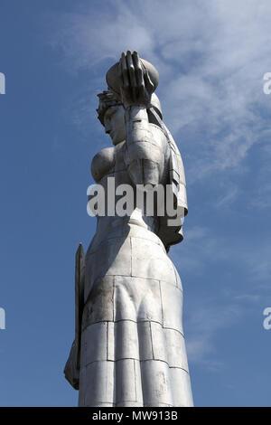 Statue of Kartlis Deda looking over Tbilisi - Stock Photo