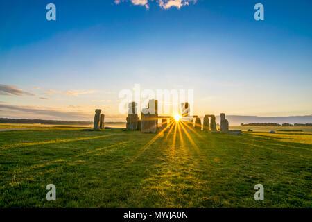 Stonehenge at Sunrise - Stock Photo