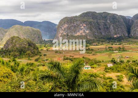 View of Vinales landscape in Cuba. - Stock Photo